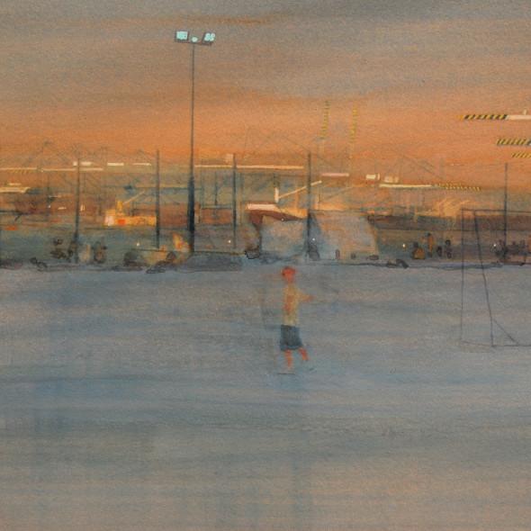 Simon Pierse RWS - Golden Hour, Pretty Bay
