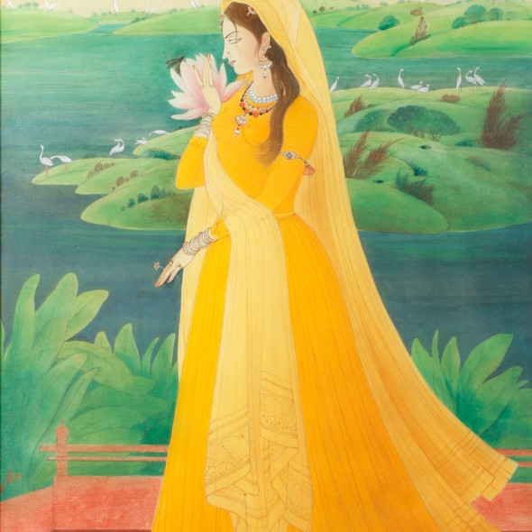 Abdur Rahman Chughtai - Usha (First Rays of the Morning Sun)