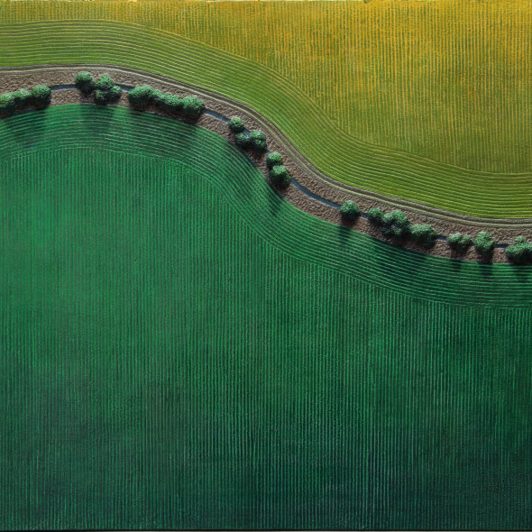 Diana Moore, Stream Through Green and Gold Fields
