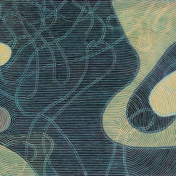 Diana Moore, Rotating Lines (Black Field Area)