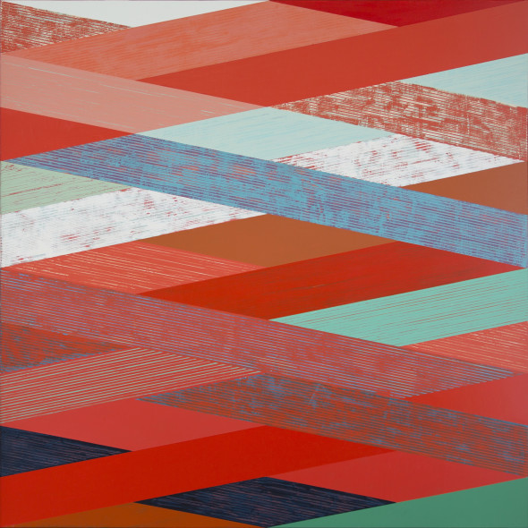 Sunny Taylor - Woven Landscape with Red II