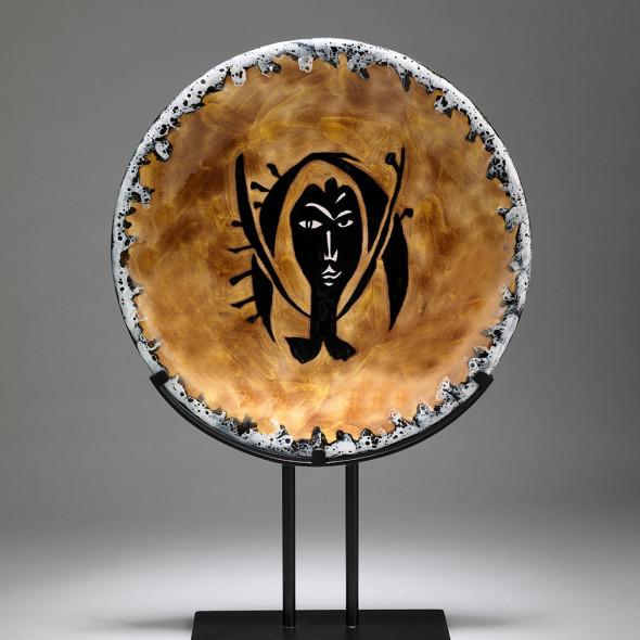 Jean Lurçat, Plate - Orange & Grey - Nereid, c. 1955