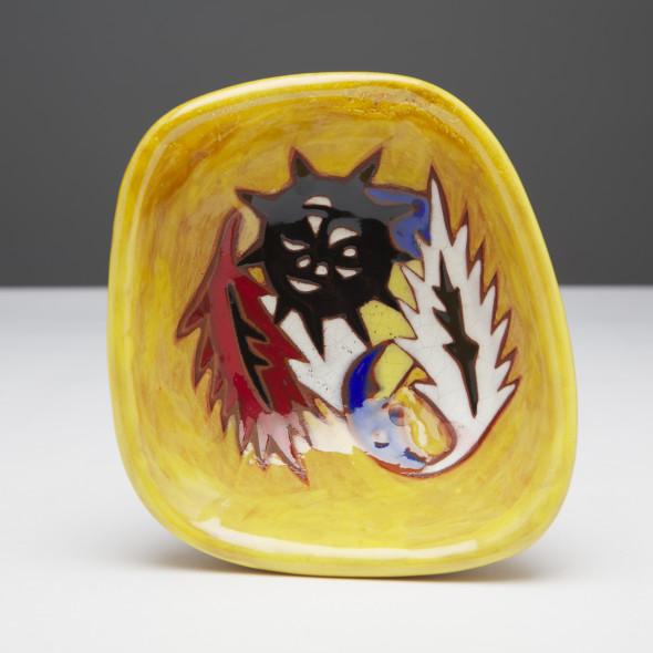 Jean Lurçat, Bowl - Vide Poche - Yellow - Dusk, c. 1955