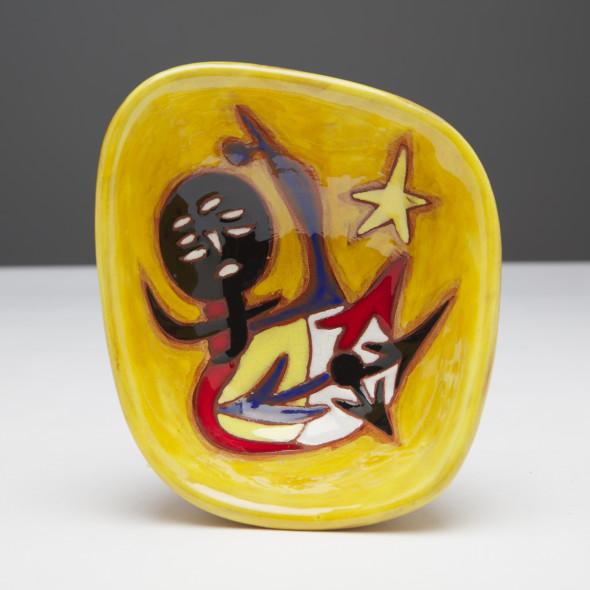 Jean Lurçat, Bowl - Vide poche - Yellow - Aura, c. 1955