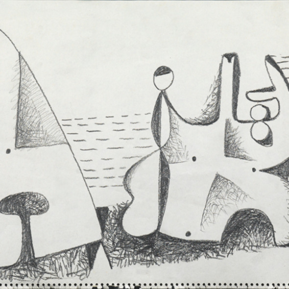 Caziel, WC705 - Composition, c. 1950