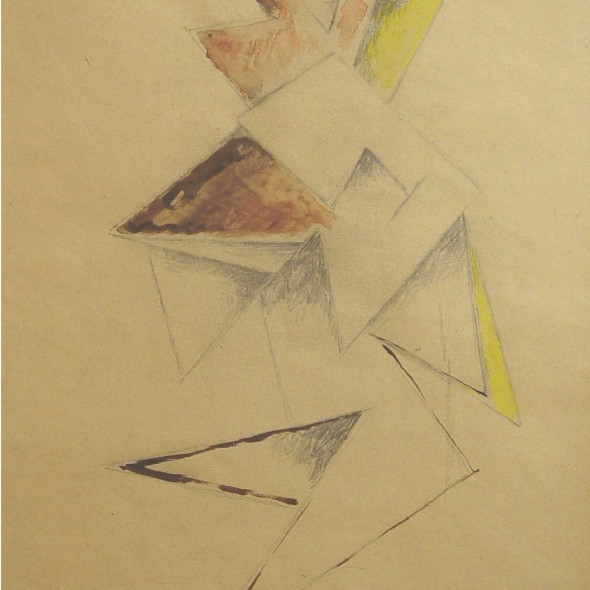 Natalia Goncharova - Abstract Figure, c. 1916