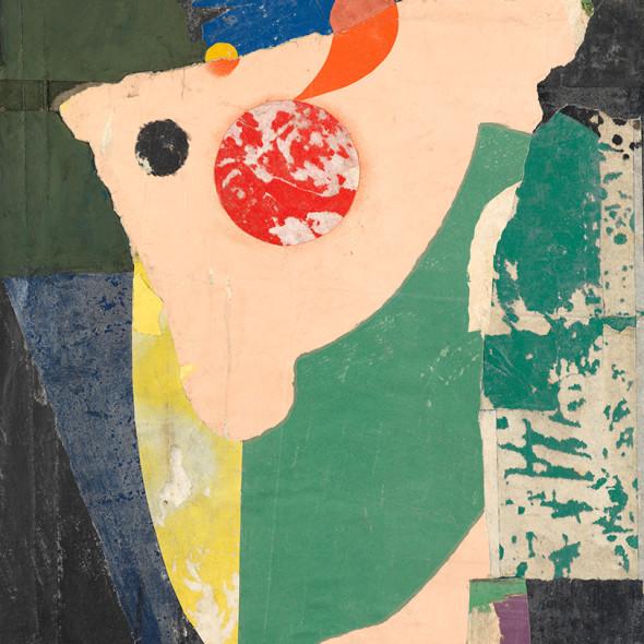 Joseph Lacasse, Collage / Déchirage (Dia no. 655), 1956