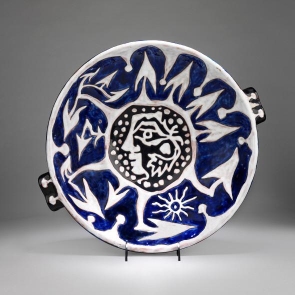 Jean Lurçat, Plate - Blue - Troubadour, c. 1955
