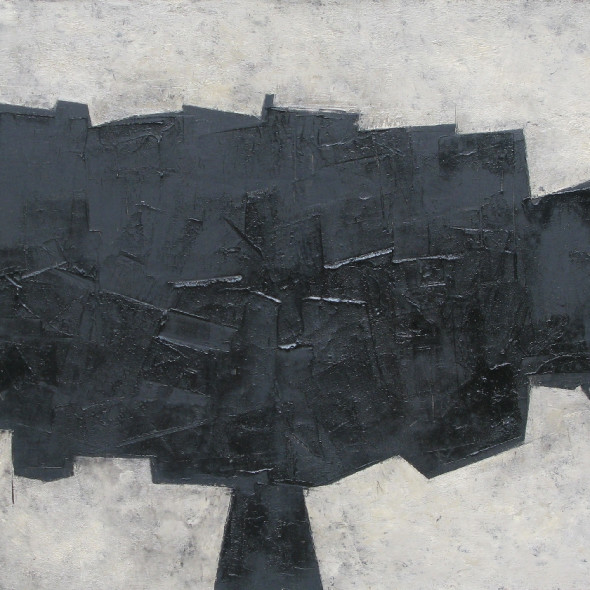 William Gear RA, Black Form, 1956
