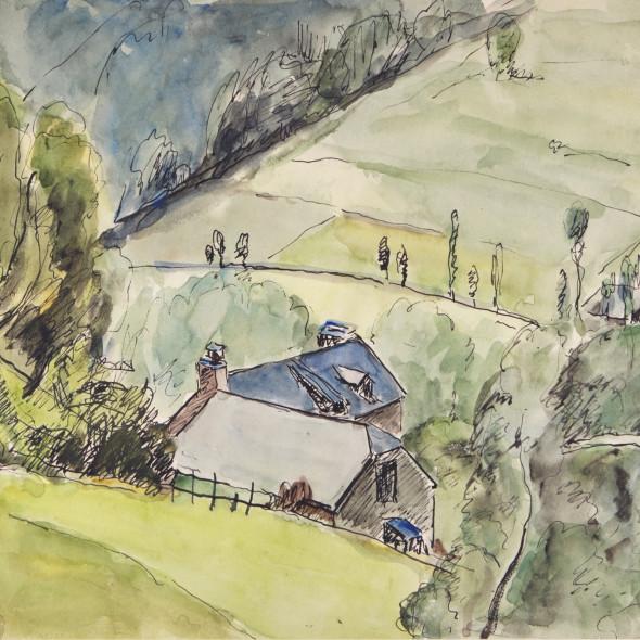 Mildred Bendall, Hillside View, c. 1920
