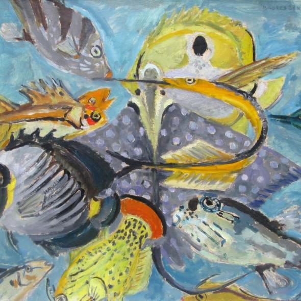 Mildred Bendall - Variation sur les poissons n 10, c. 1950