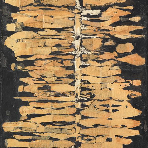 Reinhold Koehler, THORAX für N.K. 1961, Décollage Positiv-Negativ, 1961