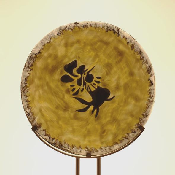 Jean Lurçat, Plate - Green & Grey - Rooster, c. 1955