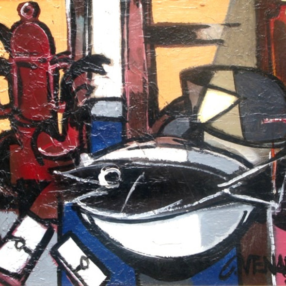 Claude Venard - Nature Morte au Poisson, c. 1955