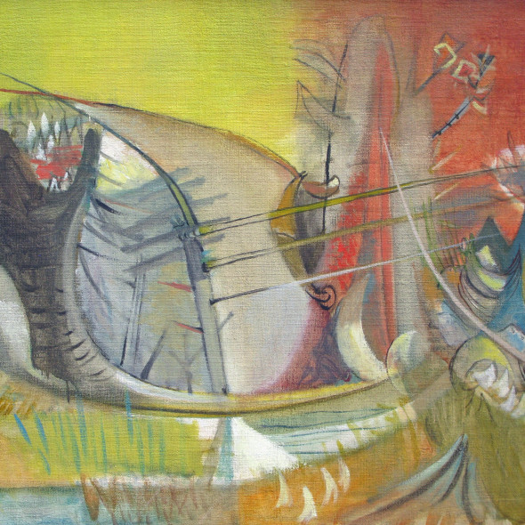 John Melville, Surrealist Landscape, 1947