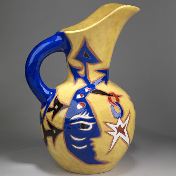 Jean Lurçat, Pichet - Yellow & Blue - Blue Moon, c. 1955