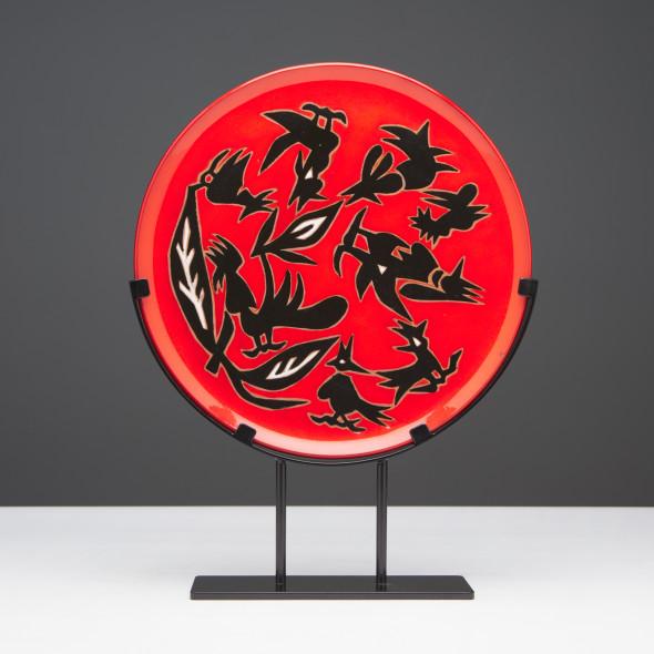 Jean Lurçat, Plate - Red - Rendez-vous, c. 1955