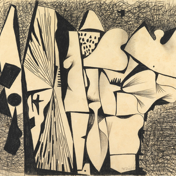 Caziel, WC067 - Organic Composition, c. 1951