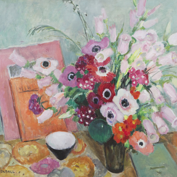 Mildred Bendall, Poppies and Foxgloves, c. 1930