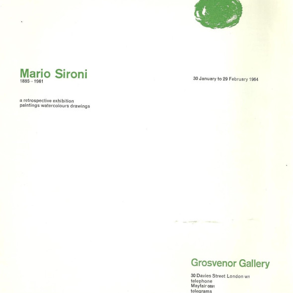 Mario Sironi A Retrospective Exhibition Paintings Watercolours Drawings