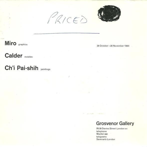 Miro Calder Ch'i Pai-shih