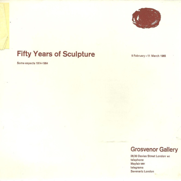 Fifty Years of Sculpture Some Aspects 1914 - 1964