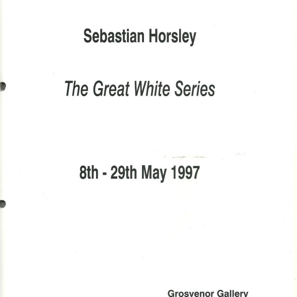 The Great White Series by Sebastian Horsley