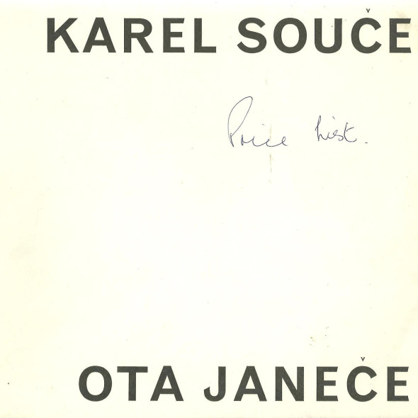 Karel Soucek, Ota Janecek An exhibition of paintings by two czechoslovak artists Karel Soucek 1948-1961 Ota Janecek 1955-1960