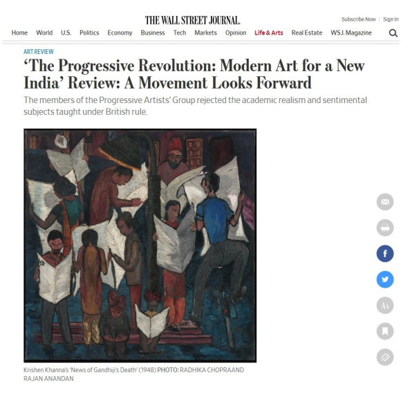 THE PROGRESSIVE REVOLUTION, Modern Art for a New India