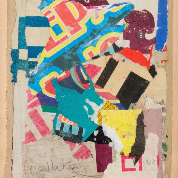 Arthur Aeschbacher - Lyrisme lacéré, 1965
