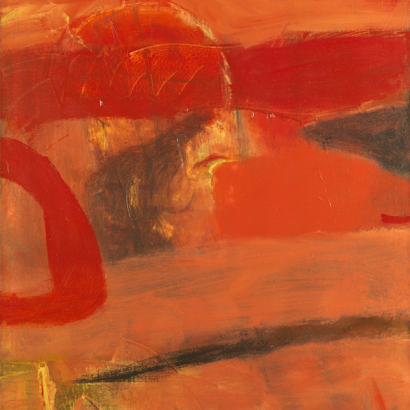 Albert Irvin RA - Echoing Red, c.1965