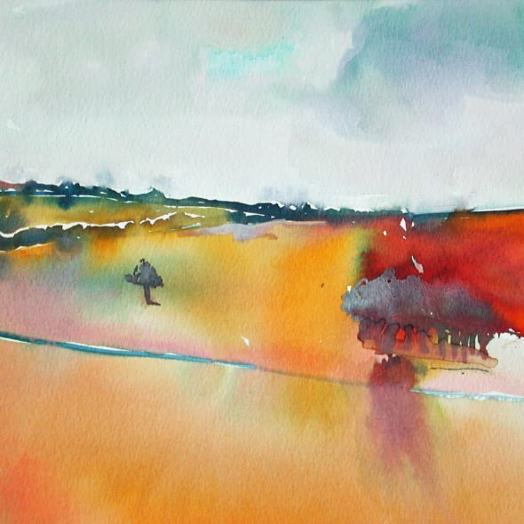 David Hamilton RWS - Across to the Trees
