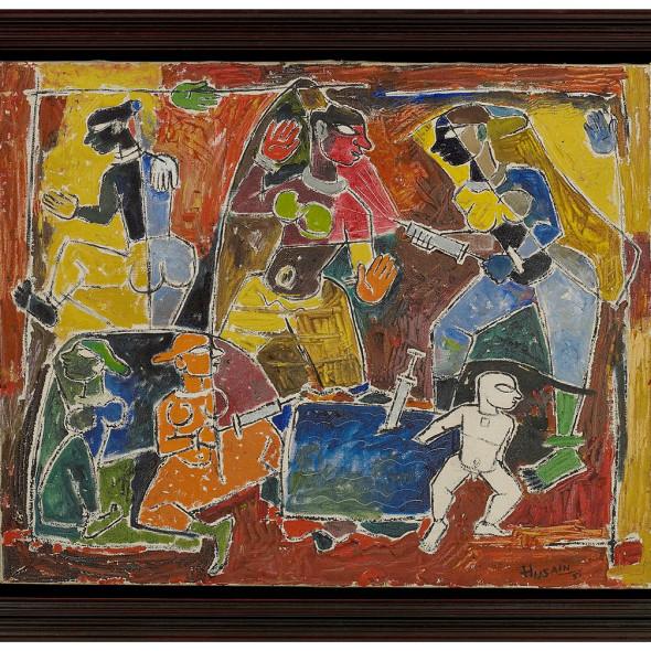 Maqbool Fida Husain - Holi, 1951