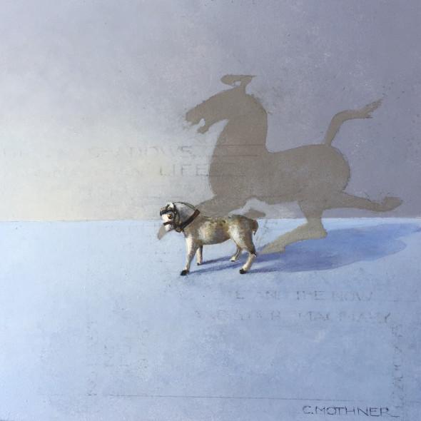 Carol Mothner - White Horse & Her Shadow