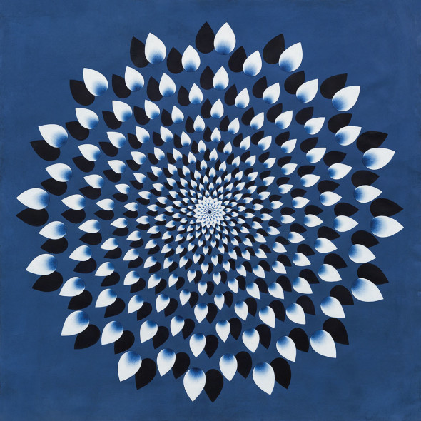Olivia Fraser, 1000 Petals (Blue), 2015