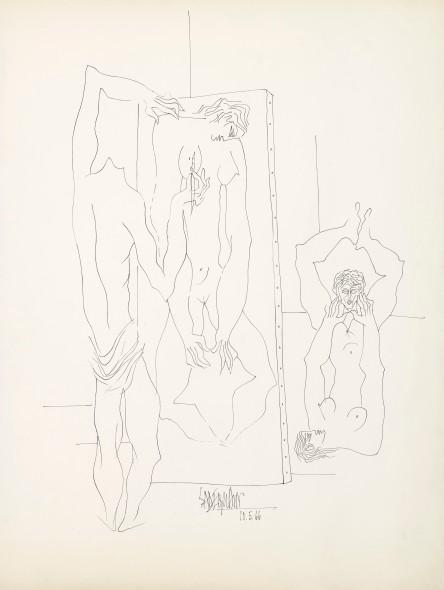 Syed Sadequain, Artist and the Model VII, 1966