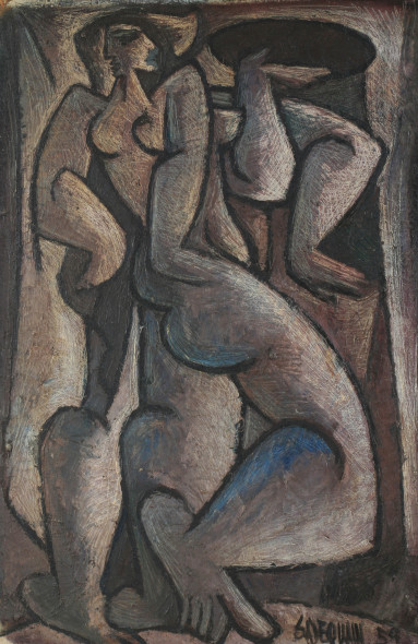 Syed Sadequain, Untitled (The Three Graces), 1959