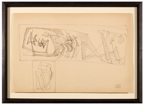 Syed Sadequain, Composition Murale, c.1962