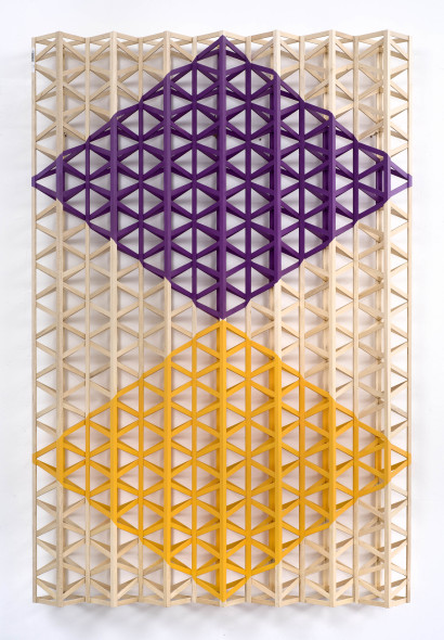 Rasheed Araeen, Vertical Structure with Two Diamonds, 2018