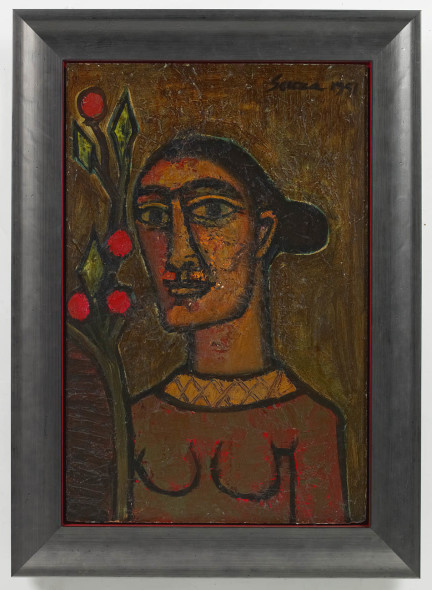 Francis Newton Souza, Head of a Woman, 1951