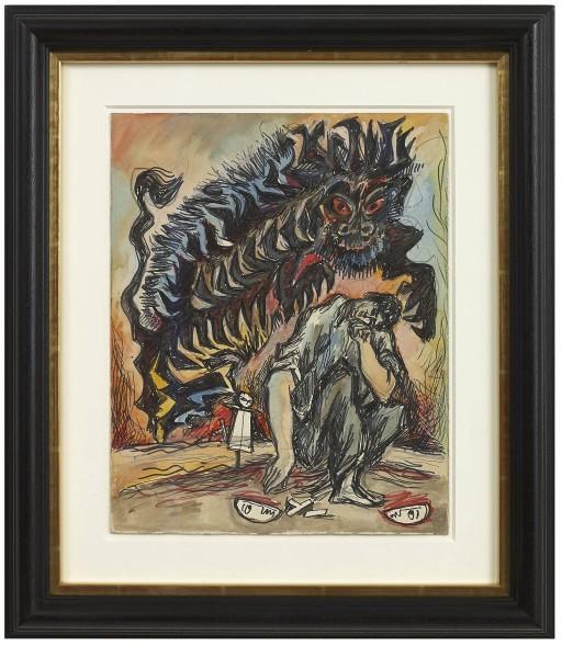 Syed Sadequain, Untitled (Meursault's Demon), 1966