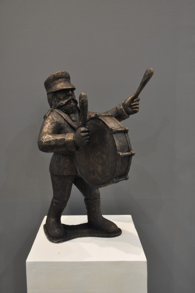 Krishen Khanna, Untitled (Bandwalla with drum), 2019