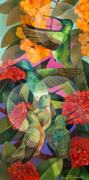 Senaka Senanayake, Humming Birds, 2017