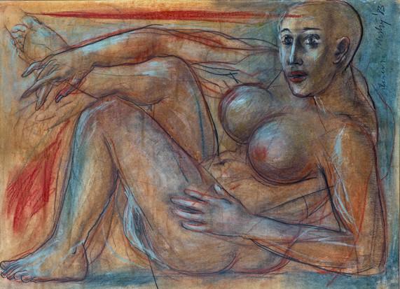 Dhruva Mistry, Untitled (Reclining Figure), 1983