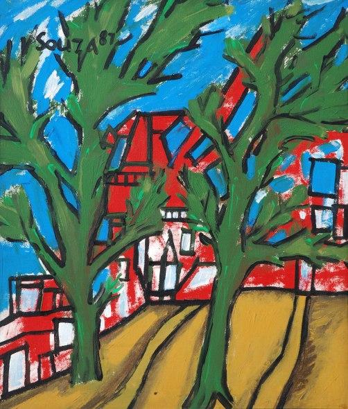 Francis Newton Souza, Landscape, 1987