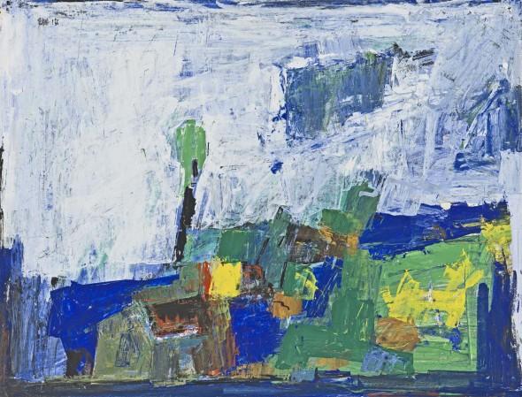 Sayed Haider Raza, Untitled (Paysage), 1956
