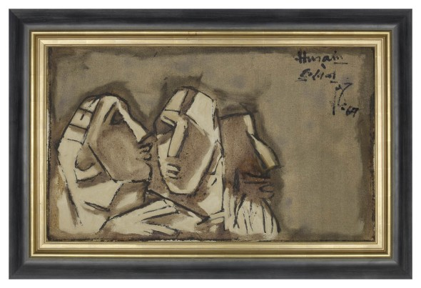 Maqbool Fida Husain, Trio, 1967