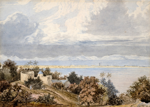 14. William Westall, Approach of the Monsoon, Bombay Harbour, 1804