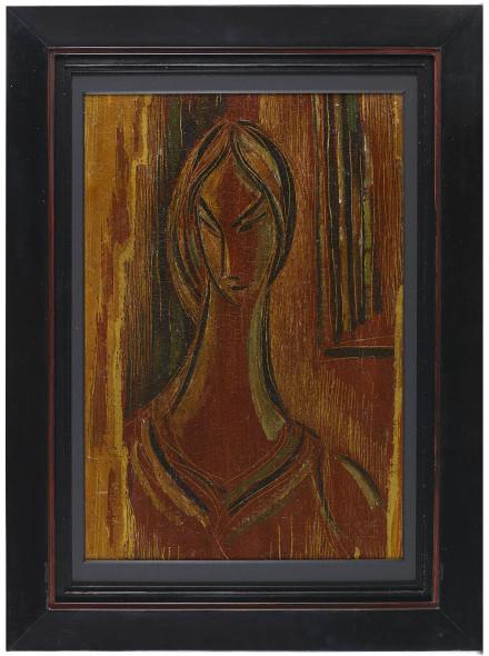 Syed Sadequain, Untitled (Head of a Woman), c.1954