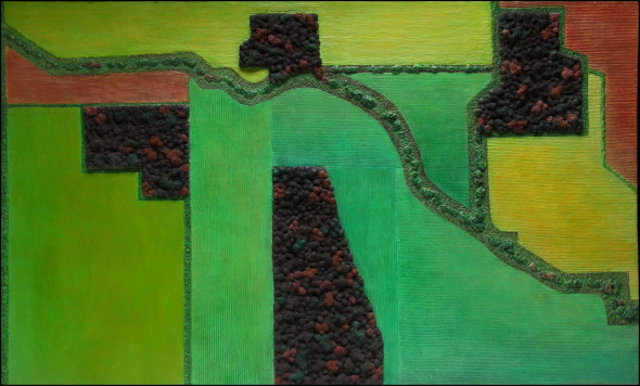 Diana Moore, Field Geometry 4 Tree Islands in the Fall